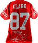 49ers Dwight Clark Authentic Signed Red Jersey w Embroidered Play PSA DNA ITP