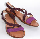 COLE HAAN  Minetta Flat Leather Sandal in Purple Aster D39403  Size 8.5 M