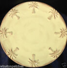 PACIFIC ENTERPRISES BRUSHED CREAM PALM TREES SALAD PLATE 8