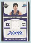 JOHN STOCKTON 2011 12 LIMITED RETIRED NUMBERS JERSEY AUTOGRAPH AUTO 25