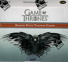 12 BOX CASE GAME OF THRONES SEASON 4 FOUR 2 AUTOS PER (SKETCH? PIN?)