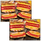 NEW (Set/8) Ceramic Hot Dog Styled Plates For Picnics, Barbecues, And Summer Fun