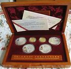 2008 Beijing Olympic 6 Coins Set 150 Yuan 2 Coins  Gold & Silver 10 Yuan 4 Coins