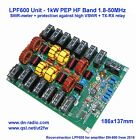 LPF600 - 1.8-50MHz, 1kW PEP, LPF Unit using low-pass filter 5th order, SWR meter