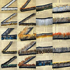 Hackle pheasant Feather Fringe Trim 1 or 5 yards Sewing Costume Millinery