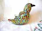 Vintage Murano Art Glass Bird Figure with gold flecks