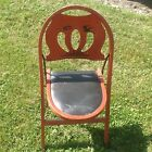 RARE Vintage 1920's Stakmore NYC Industrial Folding Chair