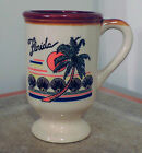 FLORIDA VINTAGE COFFEE MUG CUP CERAMIC COLLECTIBLE BEVERAGE SOUVENIR HZ 12 OUNCE