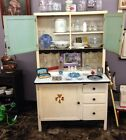 Vintage Hoosier Style Cabinet/hutch With Enamel Counter Top