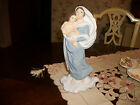 Large Statue of The Blessed Virgin Mary & Baby Jesus On Cloud Ceramic 11