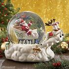 Lenox Holiday Musical Snowglobe Santas Sleigh We Wish You a Merry xmas RARE ED