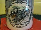 Vintage 1960s COLORADO coffee mug, AIR FORCE ACADEMY CHAPEL, Pike's Peak, Gorge