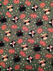 Halloween Fabric Red Rooster Green One Yard