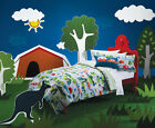KAS Kids Retro Holiday Caravan Cotton Double Bed Quilt Duvet Cover