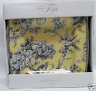 222 FIFTH ADELAIDE YELLOW SALAD PLATES SET of 4 NIB Toile Bird French Country