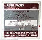 Pioneer X-Pando PMV-206 Magnetic Photo Album Refill 10 Pages/5 Sheets Up to 8x10