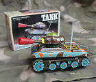 ME 0606 Tank battery operated tin toy with box It works!!