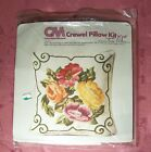COLUMBIA-MINERVA ROSES CREWEL PILLOW KIT #7694 BY ERICA WILSON