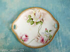 ANTIQUE Q. & E. G. ROYAL AUSTRIA ARTIST SIGNED DECORATED PLATE TRAY GOLD ROSES
