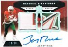 2013 Upper Deck JERRY RICE Ultimate Collection Autograph Signatures Patch #d 10