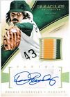 2014 Panini DENNIS ECKERSLEY Immaculate Autograph Material Prime Patch #d 01 20