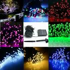 60 100 200 LED String Solar Light Garden Outdoor Xmas Party Fairy Tree Deco Lamp