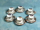 Antique Royal Stafford IMARI Cobalt Blue Orange Gold Tea Dessert set 1880's