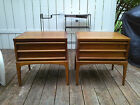 PAIR LANE RHYTHM COLLECTION NIGHT STANDS END TABLES MID CENTURY MODERN
