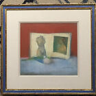 original pastel still life matted and framed and signed stuart kaufman 1926-2008