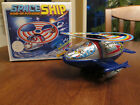 1980's Space Astronaut Space Ship Tin Wind-up & Plastic Toy with Box Korea