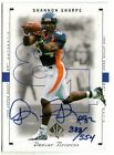 SHANNON SHARPE 2000 UPPER DECK SP AUTHENTIC BUYBACK AUTO AUTOGRAPH CARD #388 554