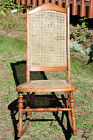 Vintage Country Sewing Rocker w/ Caned Seat & Back - Mid Century Wiisconsin