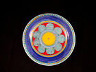 Vintage DeSimone Italy Mid Century Art Pottery Plate with Flowers
