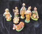 Antique Chalk Ware Made In Italy 10 Piece Christmas Nativity Set