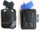 Leather Concealed Carry Belt Holster w cell Phone Pouch for choose gun