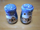 Living Quarter HOLIDAY MOUNTAIN LODGE Salt & Pepper Shakers w stoppers