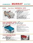 VINTAGE PRINT AD 8 X 11 MURRAY PEDAL CARS FOR 1959 CONTINENTAL