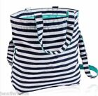 Thirty-One 31 Retro Metro Fold-Over Tote Hobo Bag Navy Wave NIP Nail File