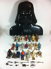 Vintage Lot of 21 Star Wars Kenner Action Figures W/ Darth Vader Carrying Case