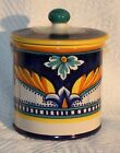 GERIBI DERUTA OF ITALY TUSCAN POTTERY CANISTER