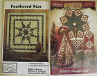 Lot of 2 Quilt Pattern Feathered Star and Chicago Star