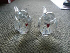 Zellique art glass- Pair of Lovebirds  signed and dated 1982