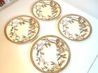 4 Wedgwood c.1880 Plates, Louise Pattern, Brown and White, Transferware, Rare!