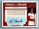 LOU BROCK 2004 PLAYOFF ABSOLUTE TOOLS OF THE TRADE GAME JERSEY AUTOGRAPH AUTO 5