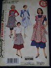 Aprons in Vintage 1948 & 1952 Styles Simplicity 3544 Sewing Pattern Uncut
