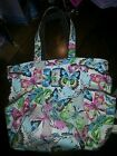 Thirty-One FLUTTER Retro Metro Butterfly Tote Bag EUC RARE!!