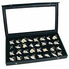 Jewelry Box Holder Tray 32 Earring Display Case Organizer Storage Black Clear