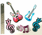 Iron On Guitar Patch Music Notes Theme Symbol Cute Applique Embroidered Patches