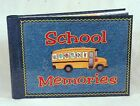 School Memories Keepsake Scrapbook Photo Album with BONUS PICTURE FRAME