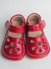 Toddler Shoes Squeaky Shoes Red with Petals Up to Size 7 for Toddlers